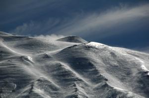 NE crater snow&wind